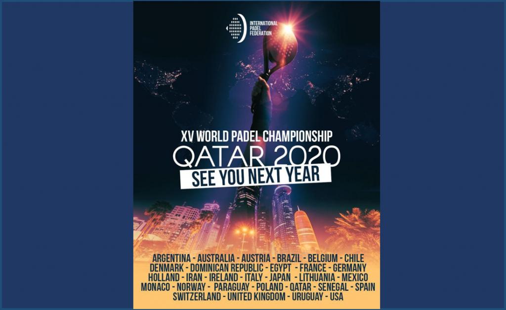 Rinviato il XV Campionato mondiale di Padel 2020