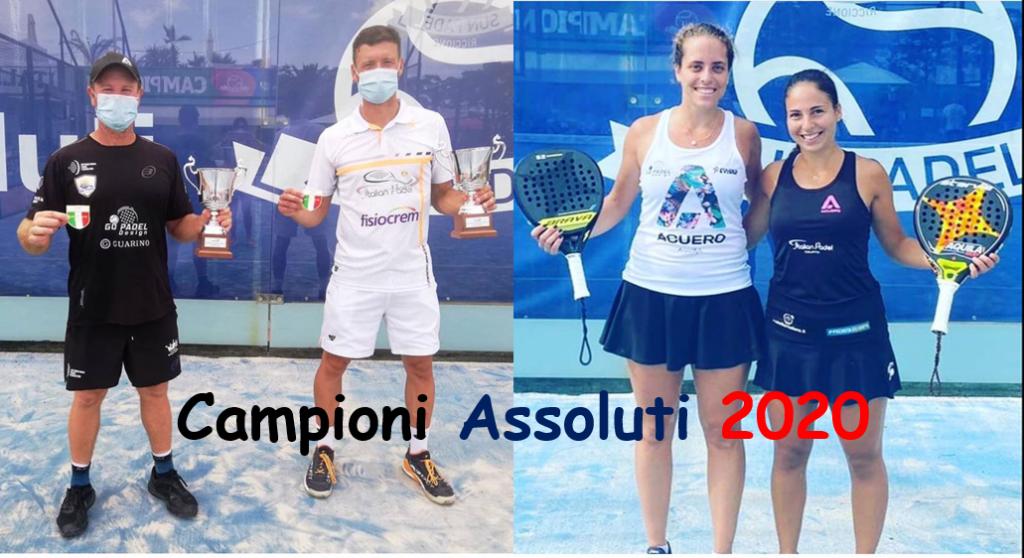 Le campionesse e i campioni degli Assoluti 2020 di Padel
