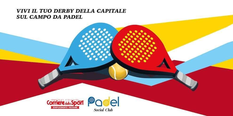 """Partecipa al derby Lazio–Roma del """"Padel Social Club""""!"""