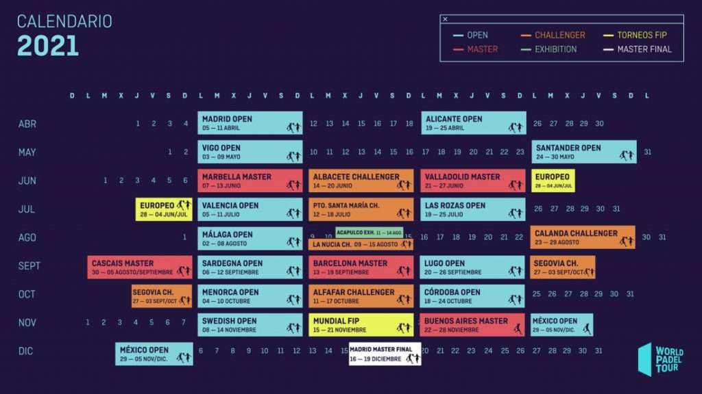 World Padel Tour 2021: Il calendario !