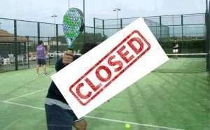padel closed