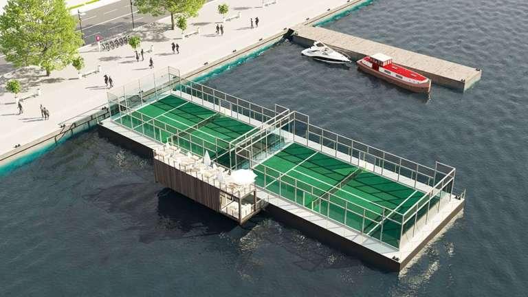 padel galleggiante mare