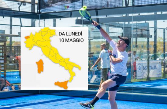 Italia giocare a padel 10 maggio